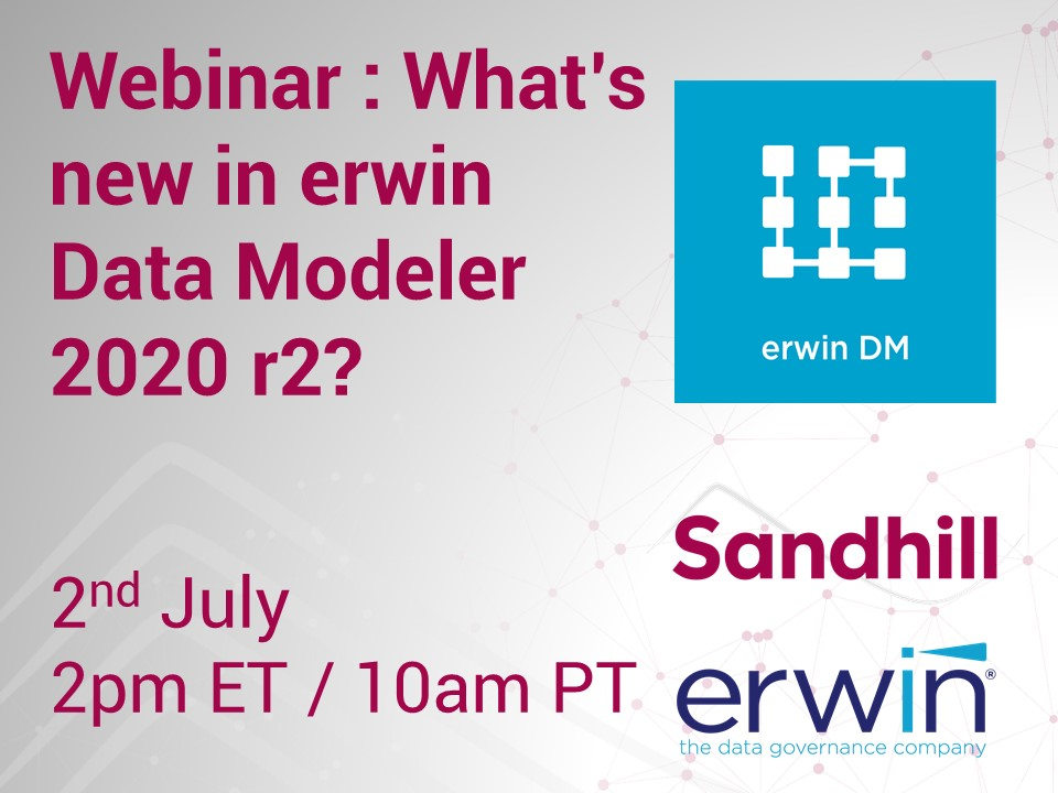 What's new with erwin Data Modeler 2020 r2: Webcast July 2th 2:00 pm eastern  – Featured Image