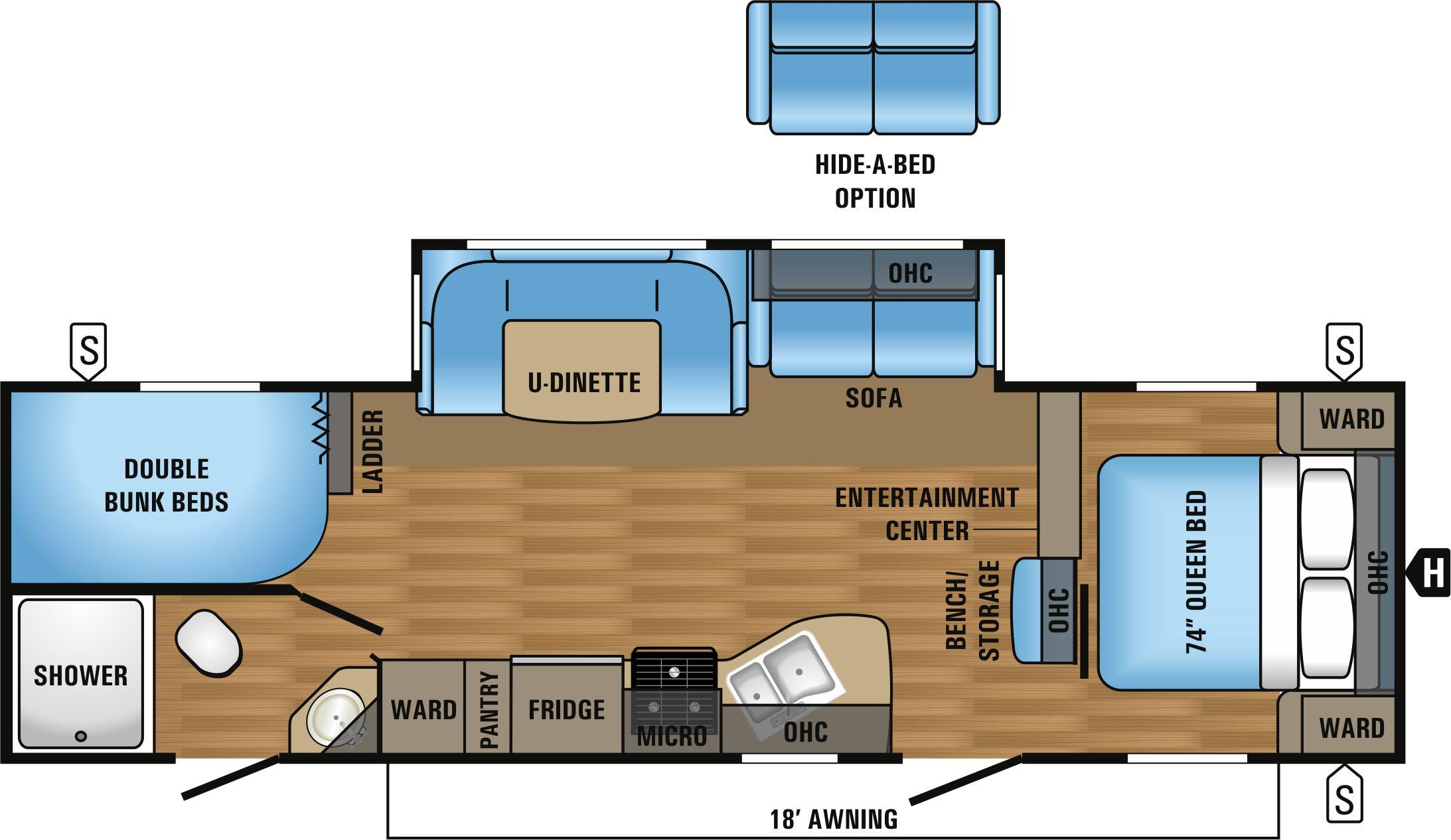 28BHBE Floorplan