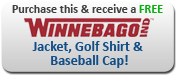 Purchase this unit and receive a FREE Winnebago jacket, golf shirt and baseball cap!