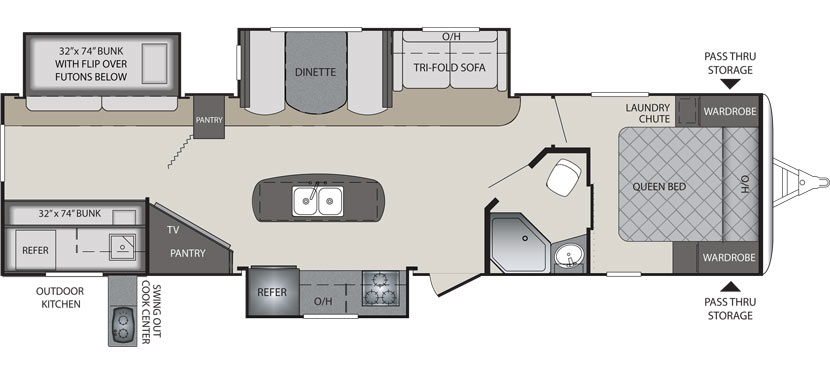 34BHPR Floorplan