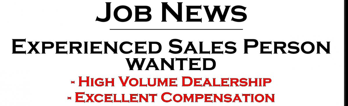 Click HERE for details Sales Position
