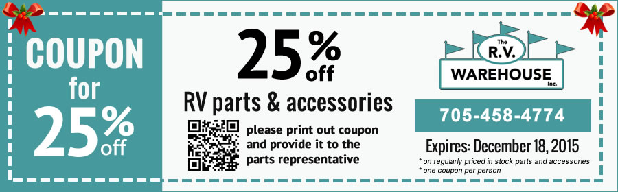 rv parts & accessories coupon