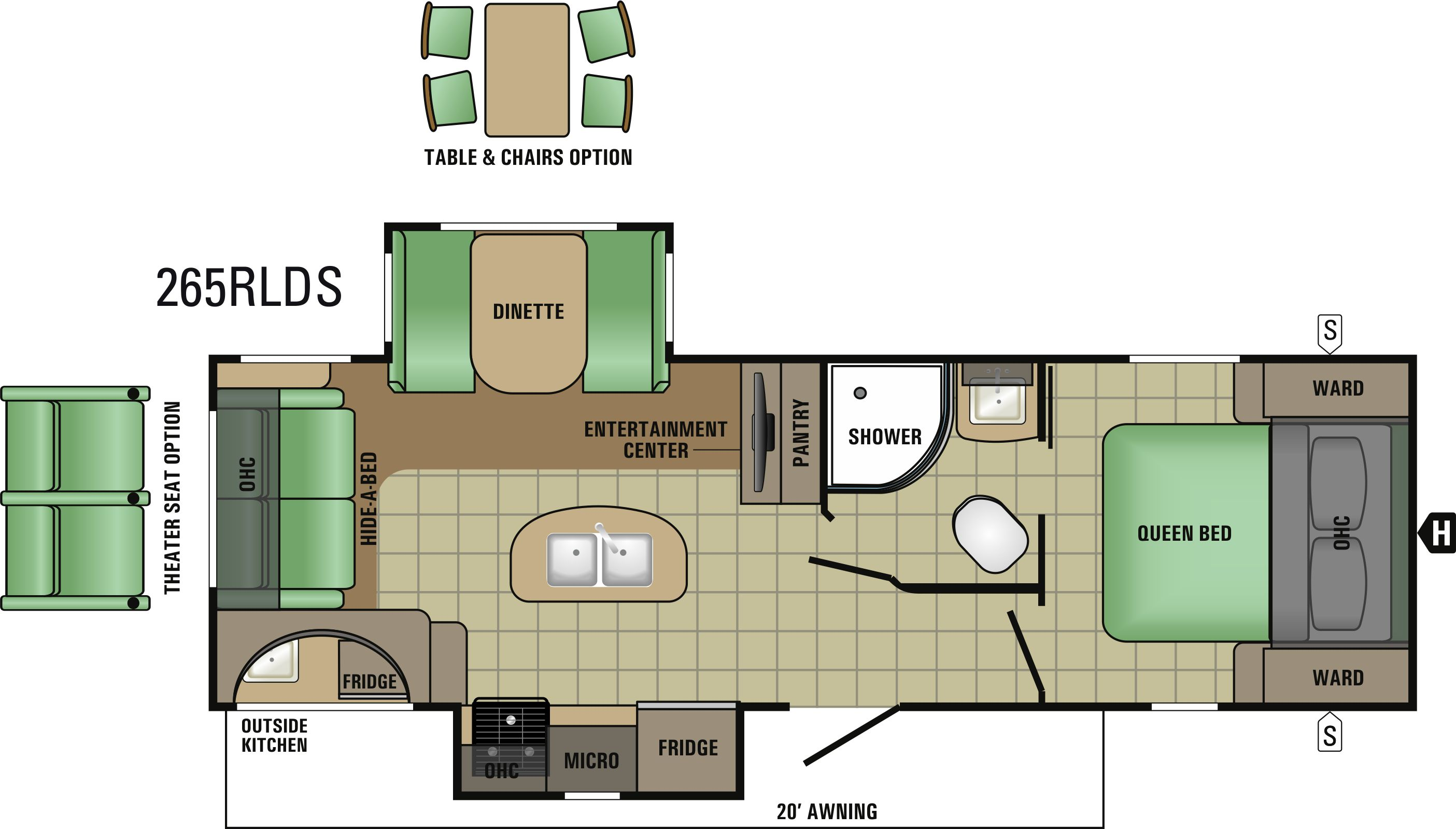 265RLDS Floorplan