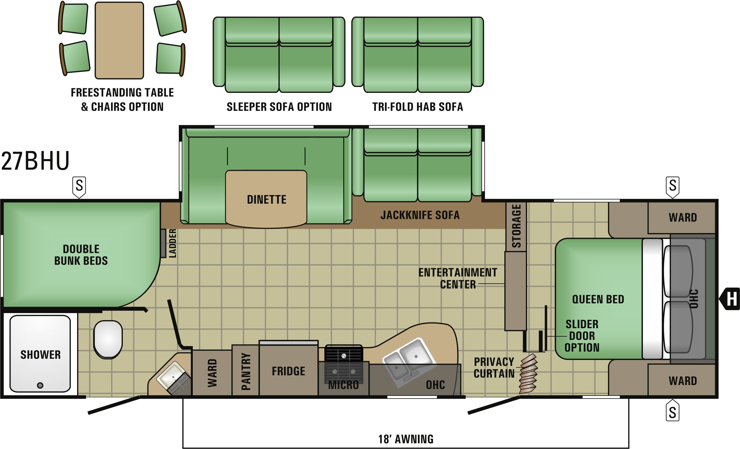 27BHU Floorplan