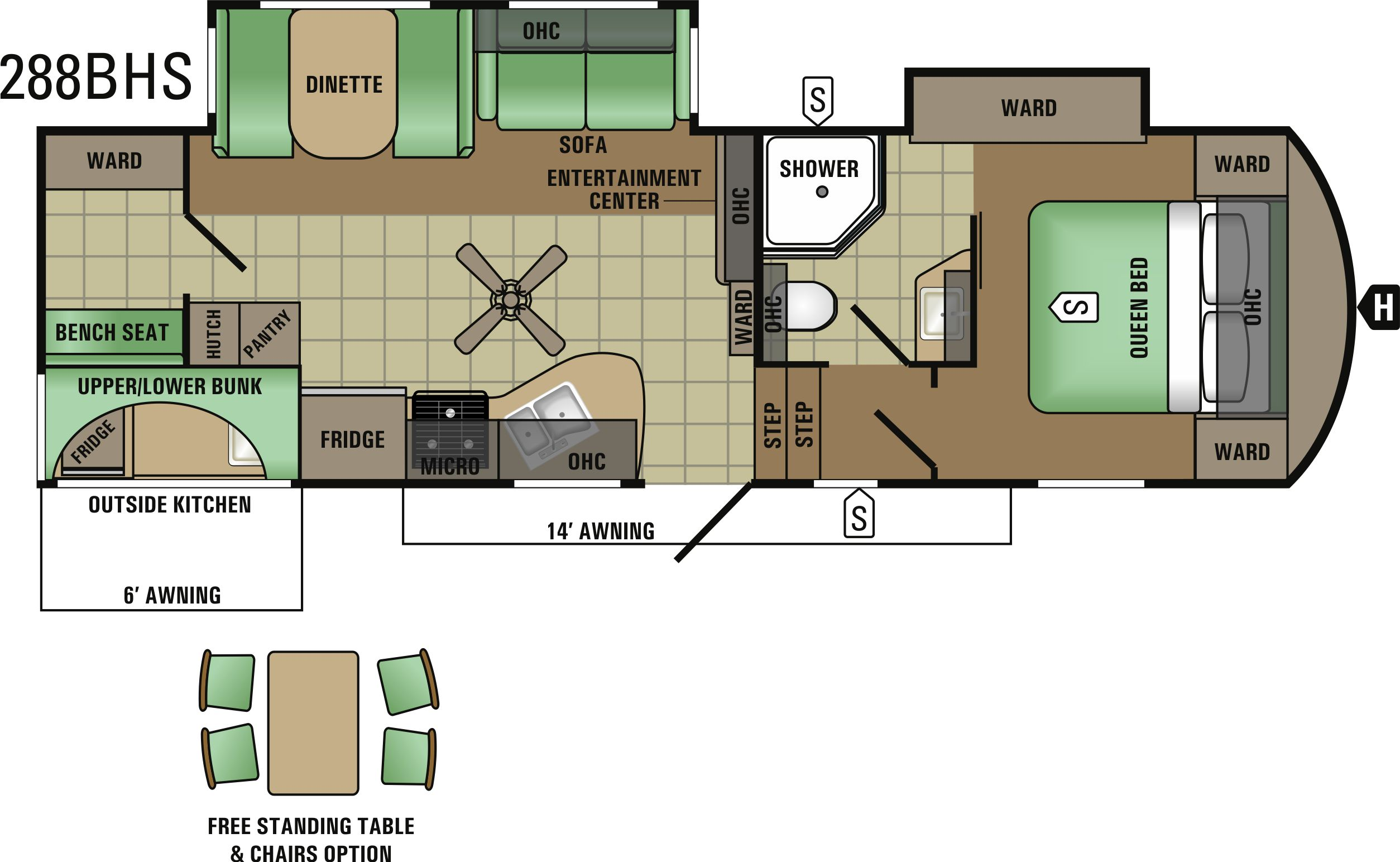 288BHS Floorplan