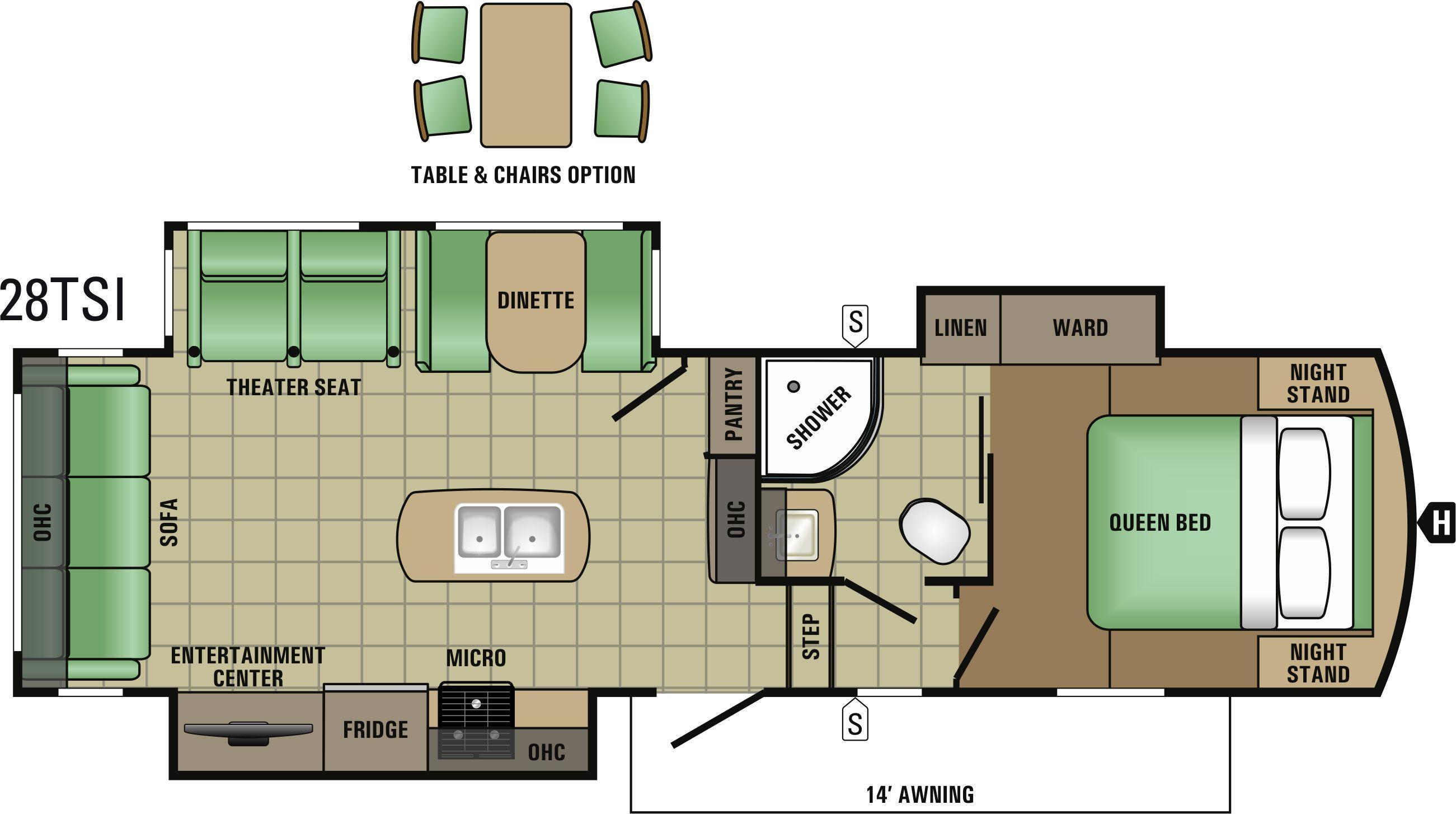 28TSI Floorplan