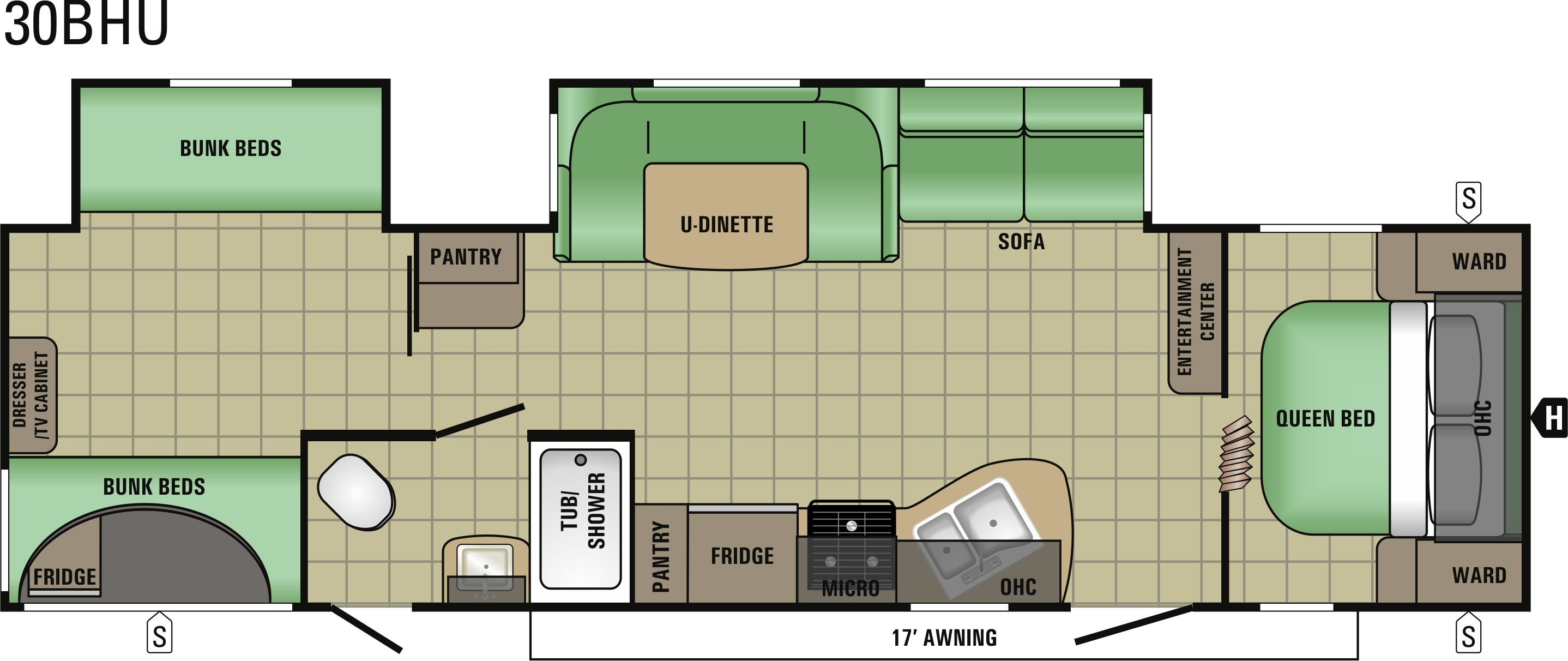 30BHU Floorplan