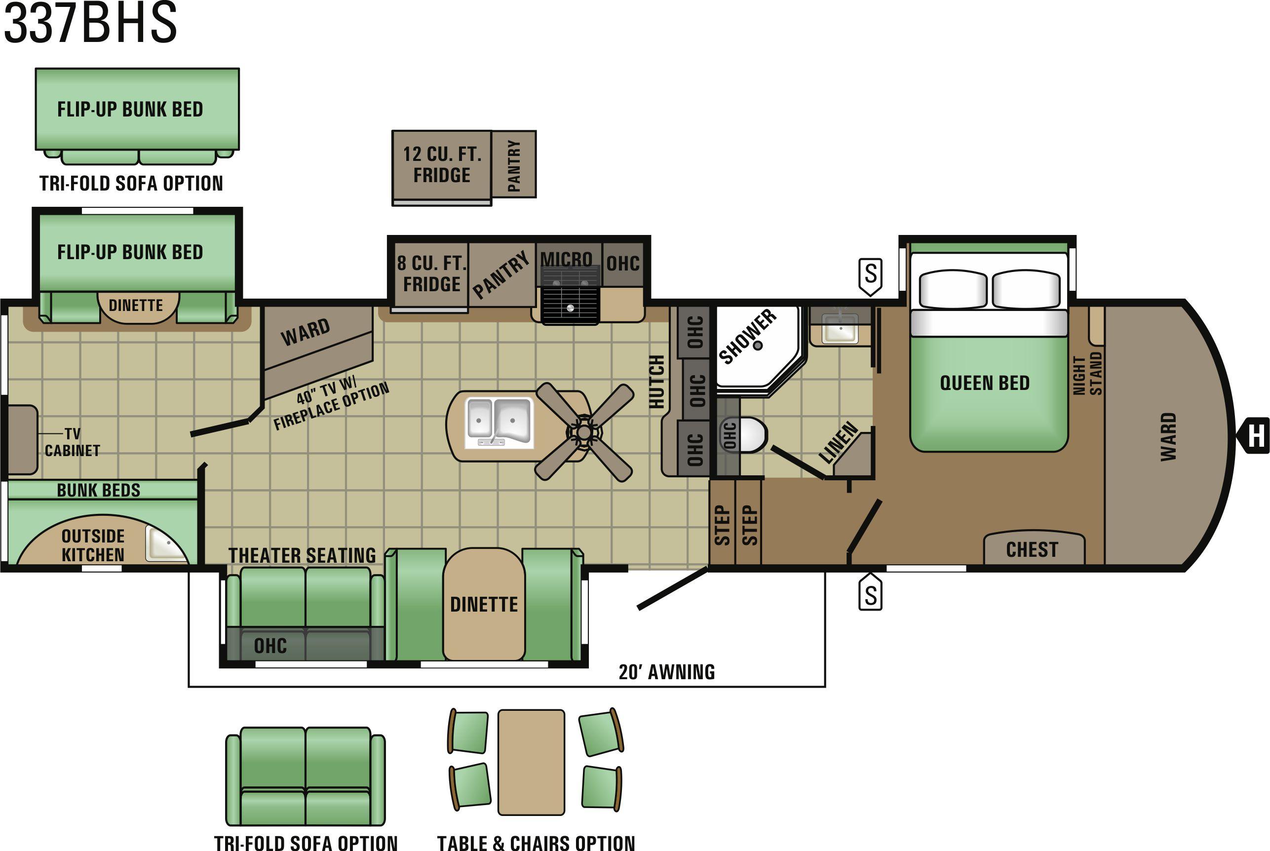 337BHS Floorplan