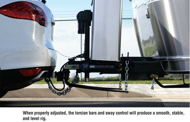 Properly adjusted torsion bar and sway controls deliver more stable towing.