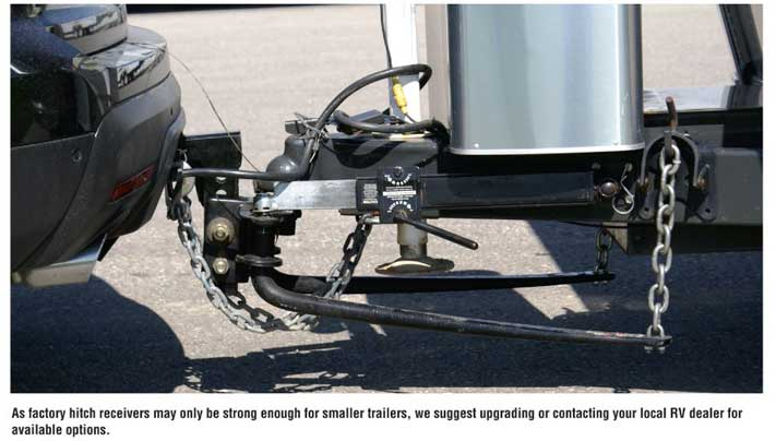 Reinforcing a factory hitch receiver is important for larger tow vehicles.