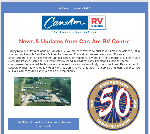 Featured image for Stay in the loop with The Can-RV Centre Newsletter