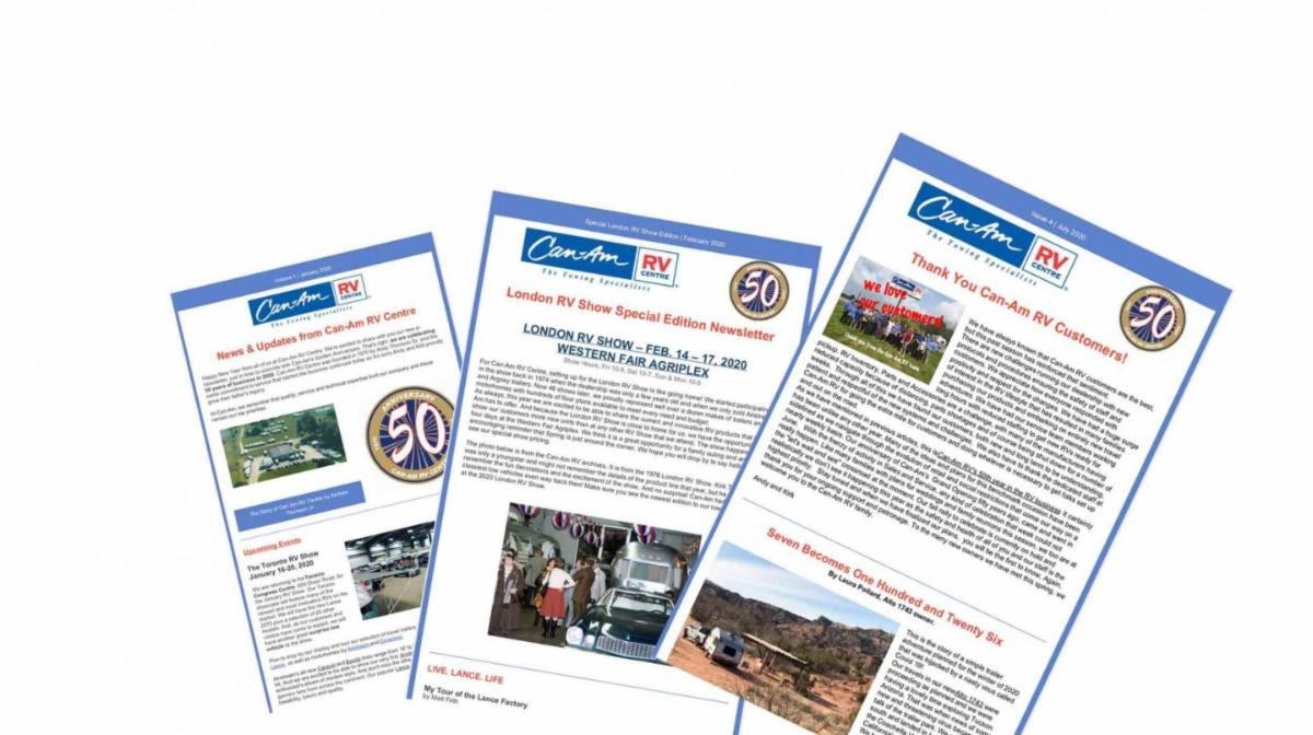 Featured image for Get the Can-Am RV Centre Newsletter: Past Issues Now Available!