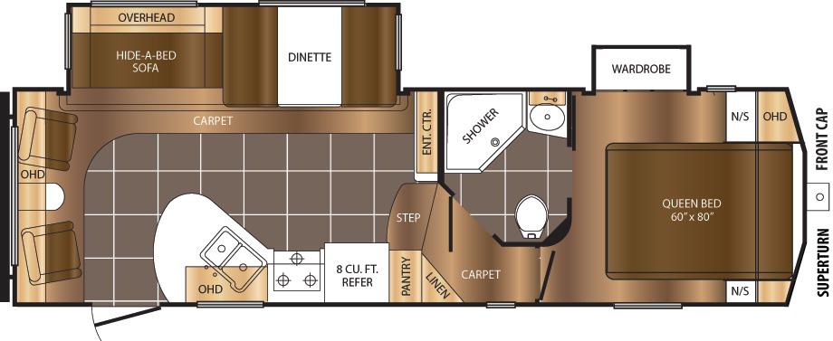 260RLD Floorplan