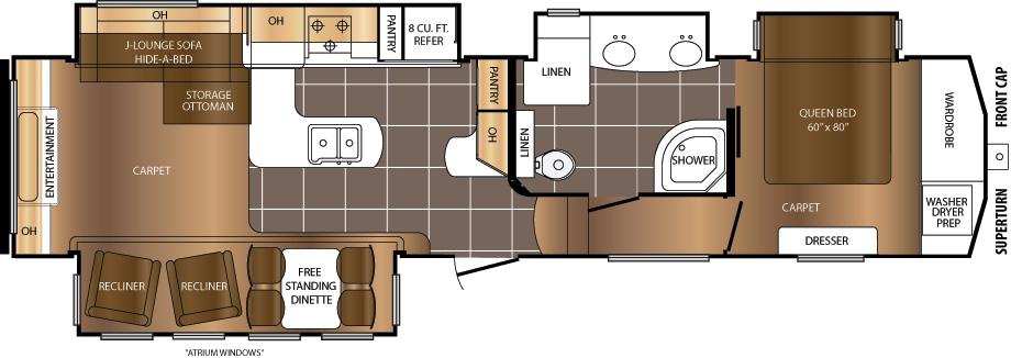 350REQ Floorplan