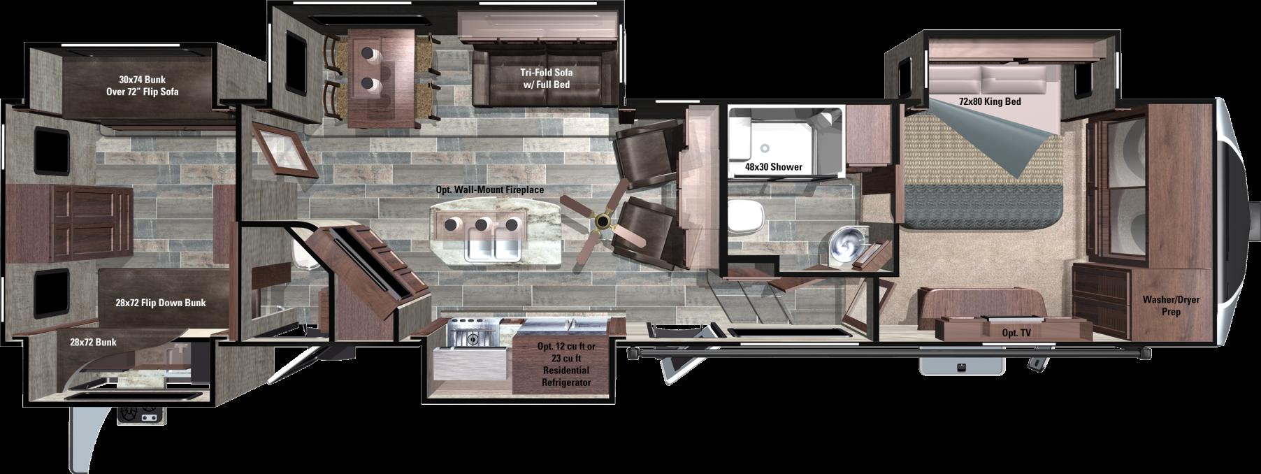 3X427BHS Floorplan