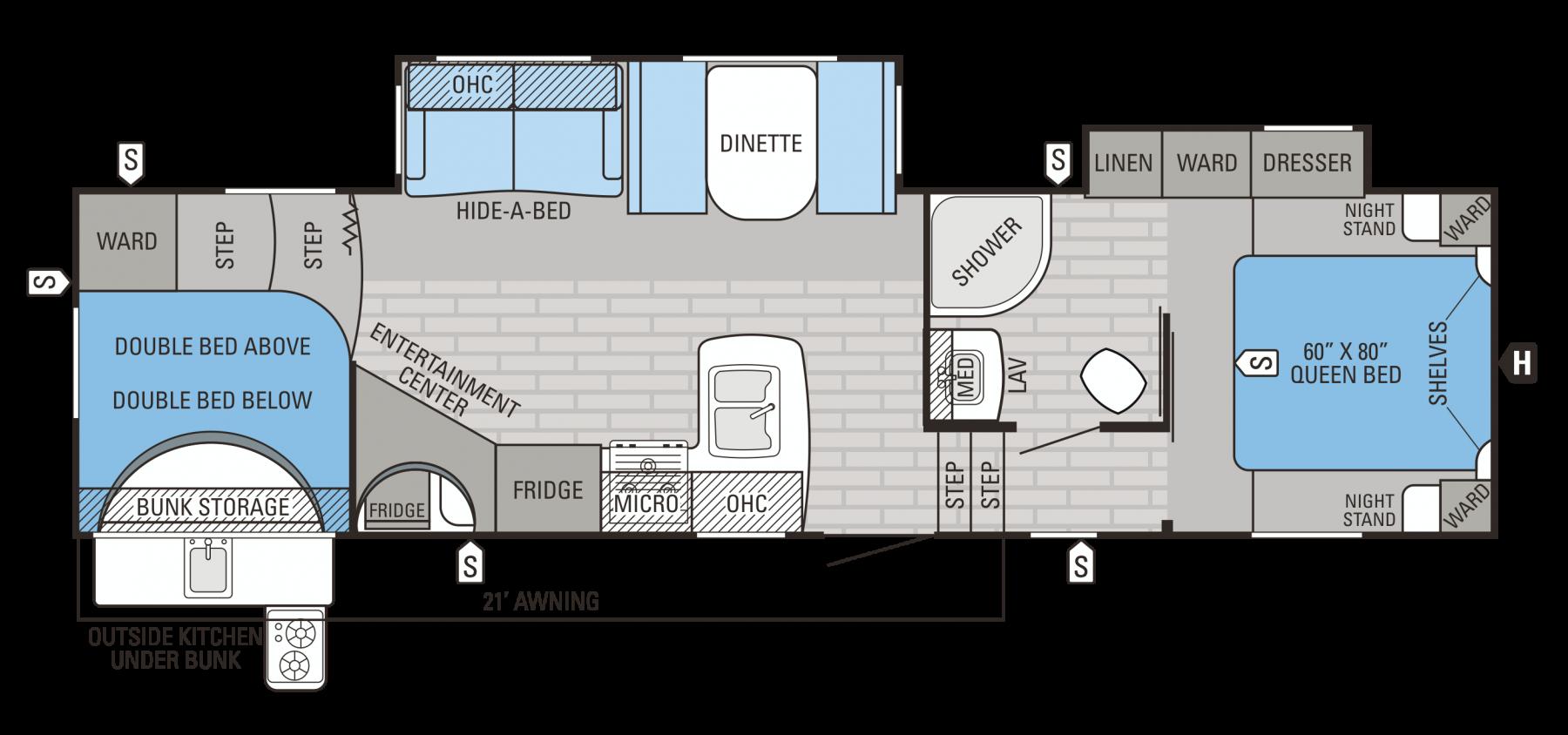 29.5BHDS Floorplan