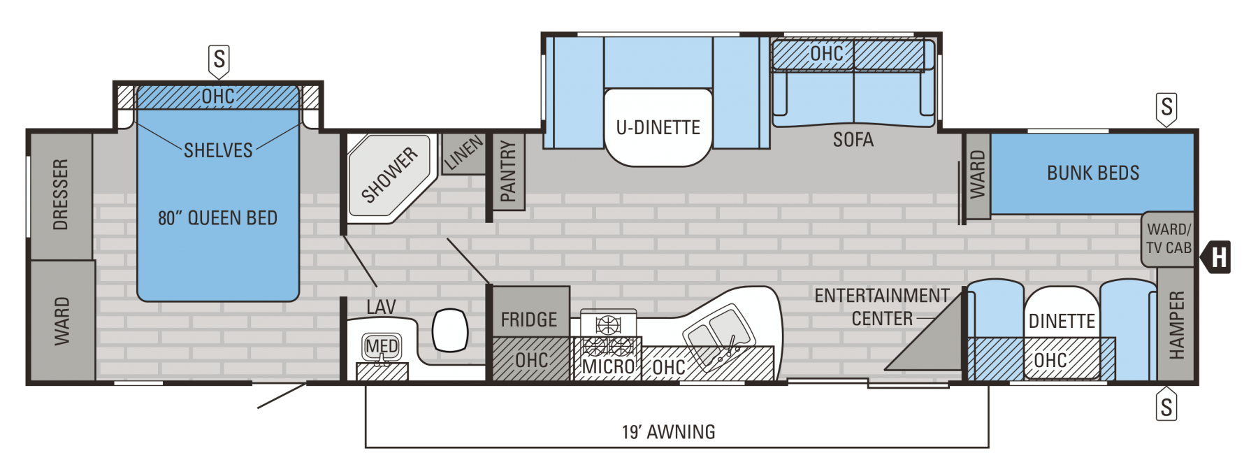38BHDS Floorplan