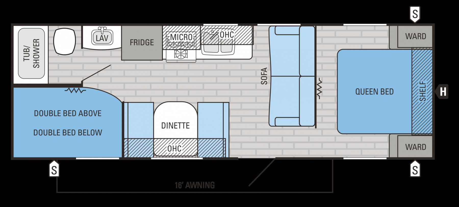 264BHW Floorplan