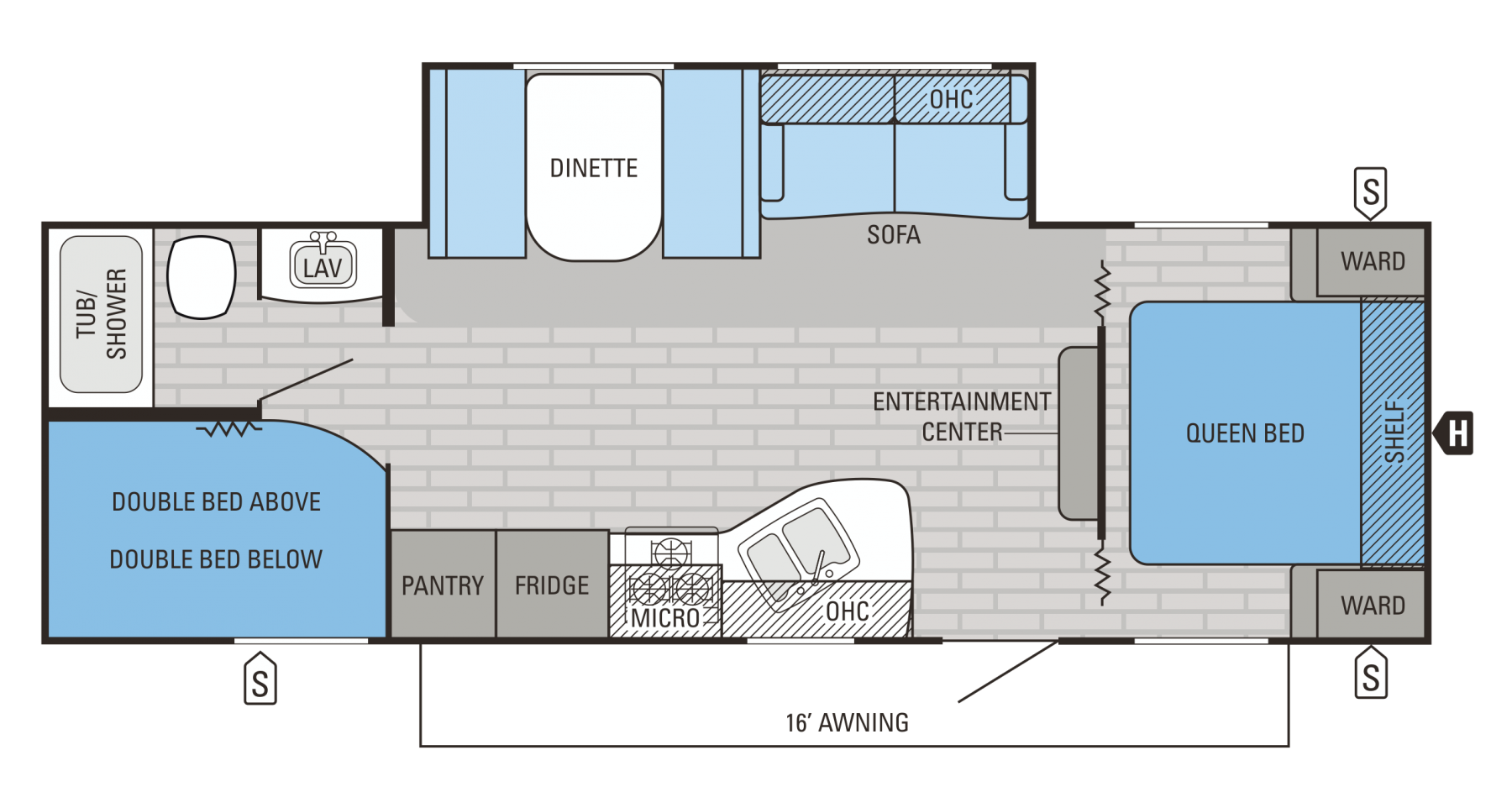 267BHSW Floorplan