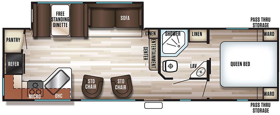 2018 Cherokee 274RK Floorplan