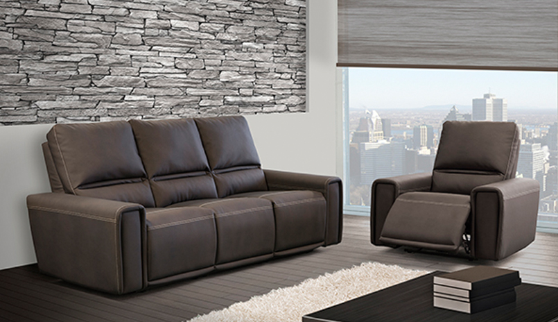 Leather Reclining Sofas & Sectionals
