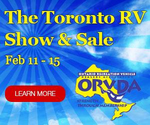 Come out to the Toronto RV Show & Sale - February 11th to the 15th in 2016