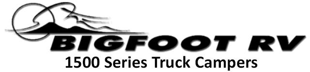 Bigfoot 1500 Campers Truck Camper Logo