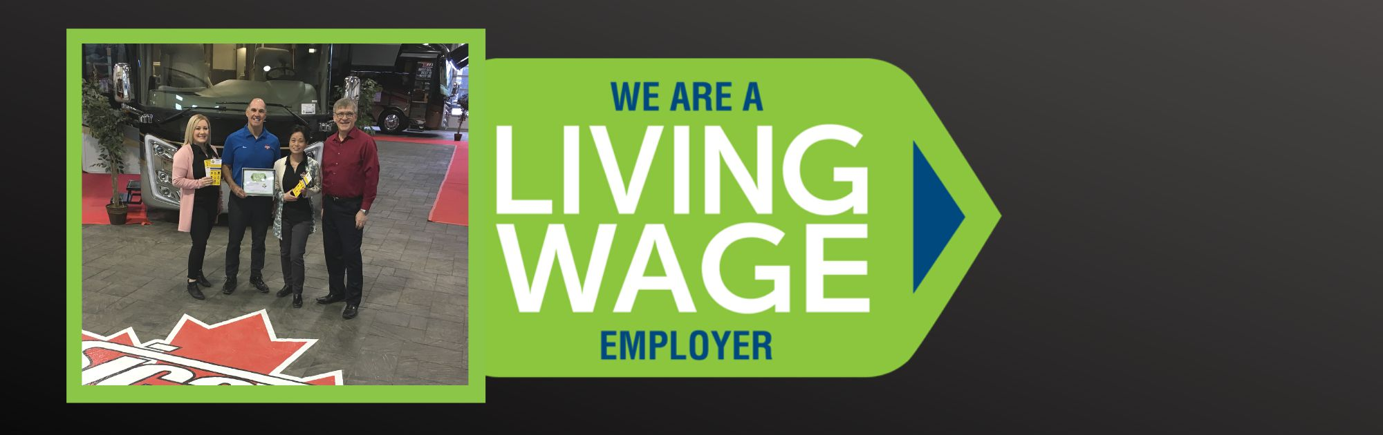 Sicard RV is a Living Wage Employer - Banner