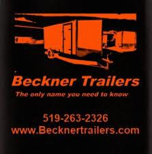 Beckner Aluminum Utility Trailer Logo