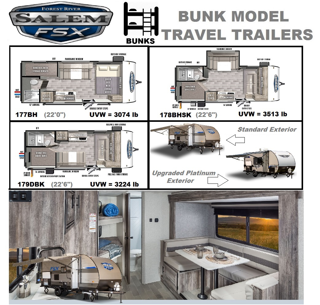 2020 Salem FSX Bunk Models