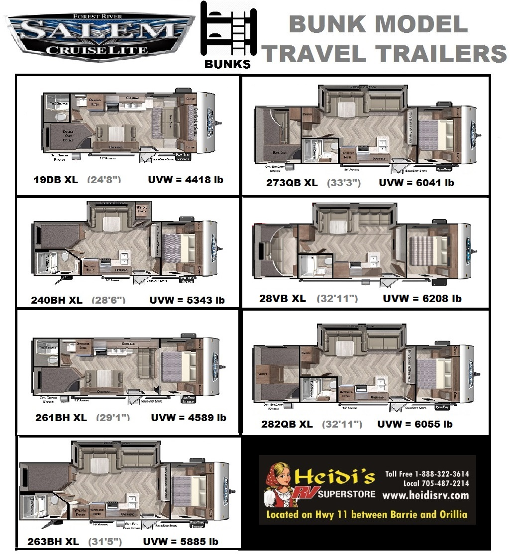 2021 Salem Cruise Lite Bunk Models