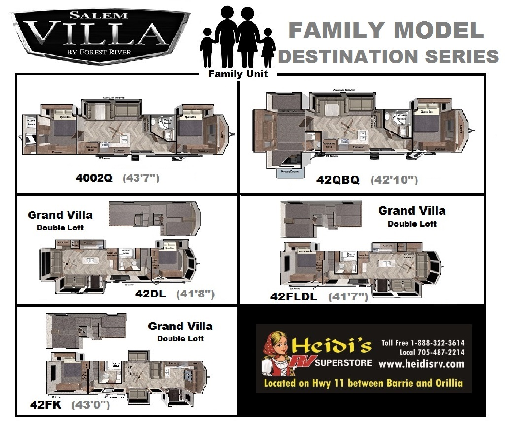 2021 Salem Villa Bunk Model Units
