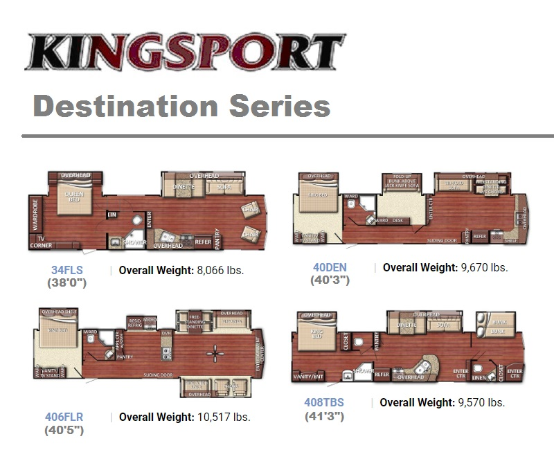 Kingsport Destination Series floor plans