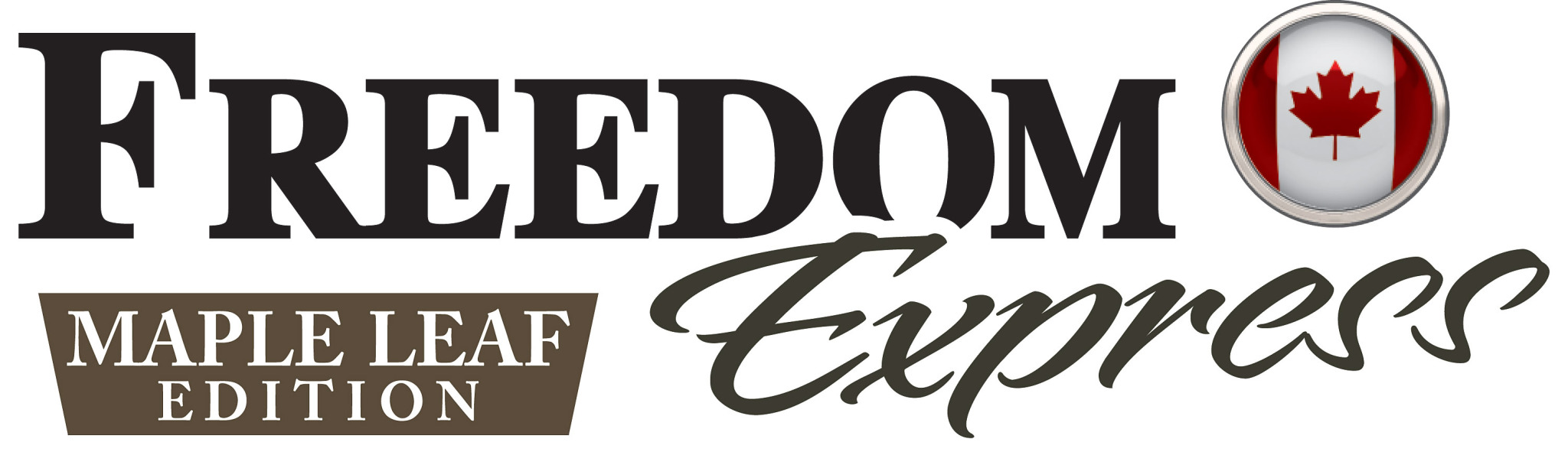 Freedom Express Maple Leaf Travel Trailer Logo