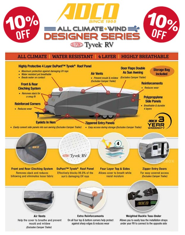 Post thumbnail for Save $ on your ADCO RV Cover!