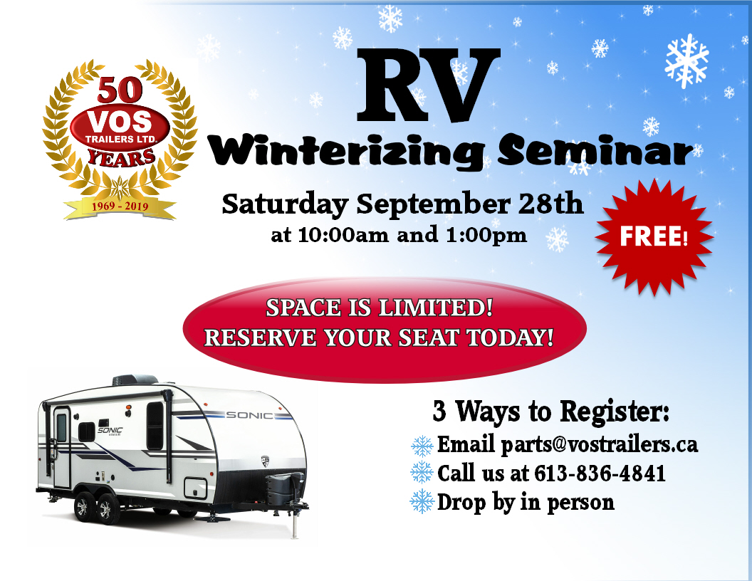 Featured image for Free RV Winterizing Seminar!