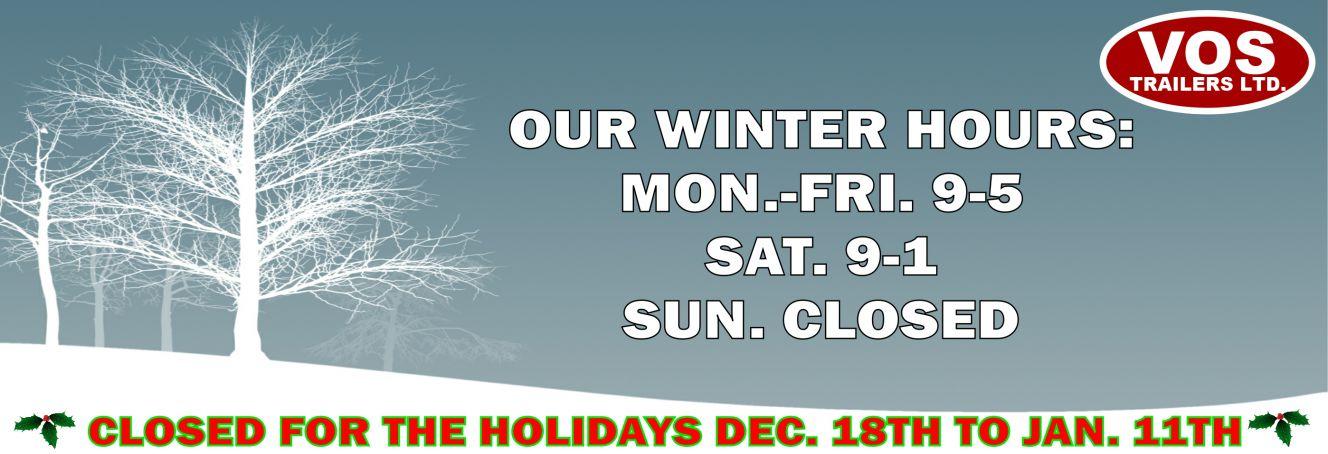 Winter hours - Slide Image