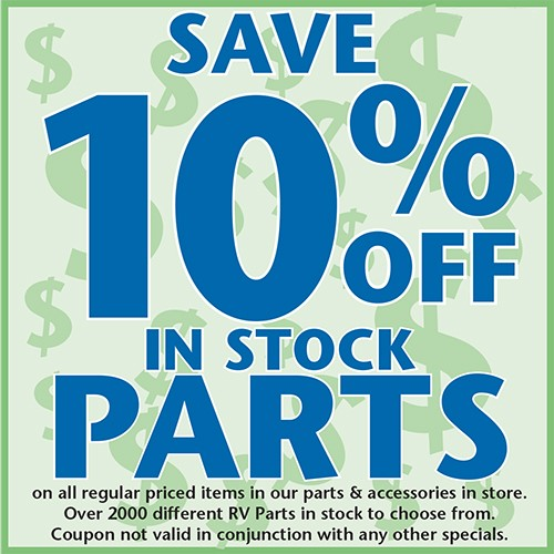 10% Off In Stock Parts
