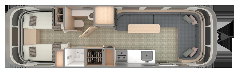 30RB Twin Floorplan